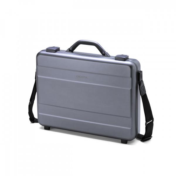 DICOTA 17,3 Alu Briefcase Notebooktasche, silver