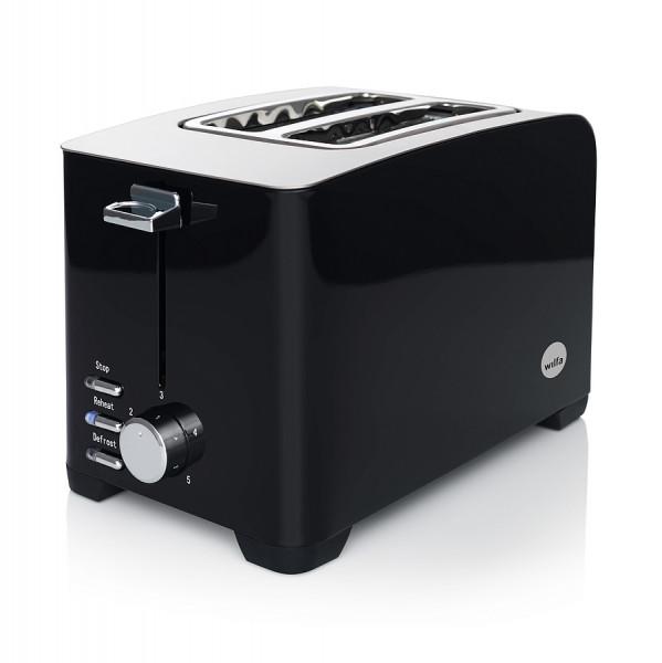 WILFA Toaster FROKOST, 5 Bräunungsstufen, 800 Watt, TO-1B, schwarz