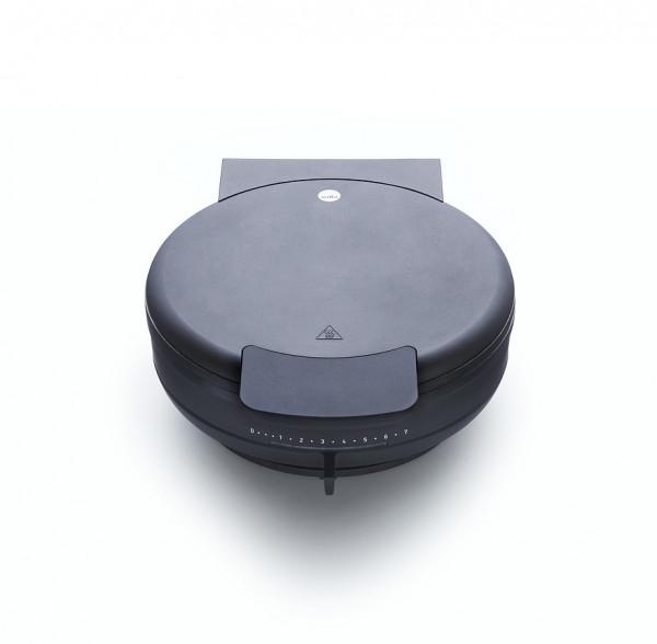 WILFA Waffeleisen HEARTS 23, 23cm Durchmesser, 1400 Watt, XWAS-1400B, schwarz