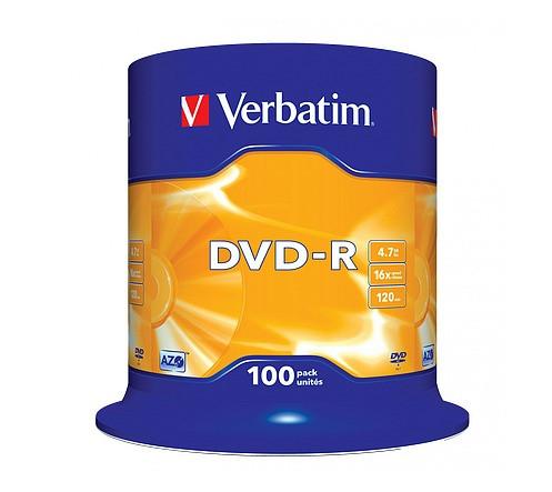 VERBATIM DVD-R 4,7GB 16x 100er Spindel