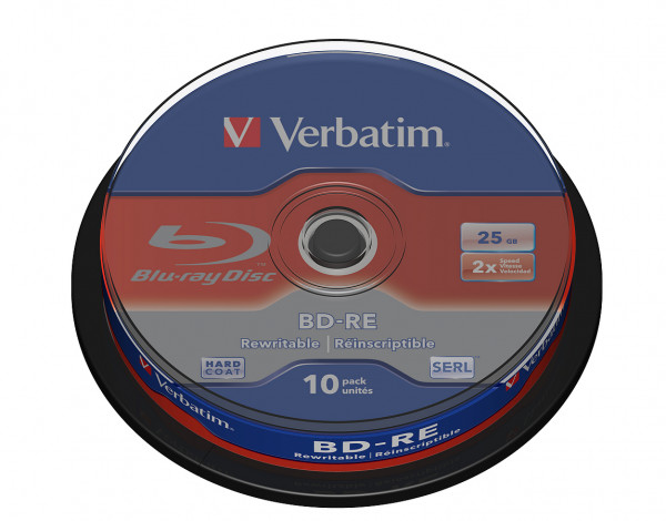 VERBATIM Blu-Ray BD-RE SL 25GB 2x 10er Spindel