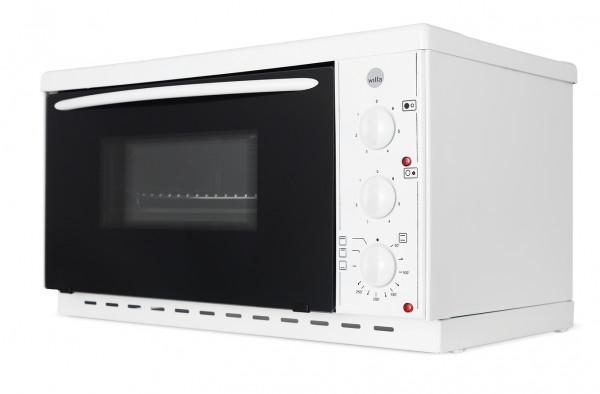 WILFA Mini-Ofen mit Kochplatten, EMK 218, weiß