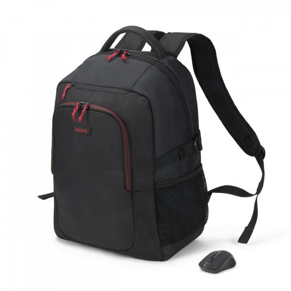 DICOTA 15,6 Gain Backpack Wireless Mouse Kit, black