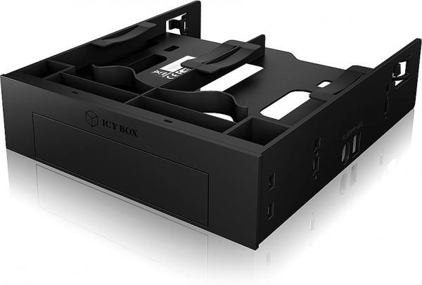 RAIDSONIC ICY BOX Festplatteneinbaurahmen, 2x2,5 + 1x3,5 HDD/SSDs in 5,25 Schacht, Frontblende
