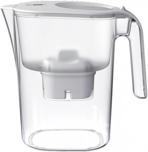 PHILIPS AQUA Wasserfilterkaraffe Mayflower 2,6 L, weiß