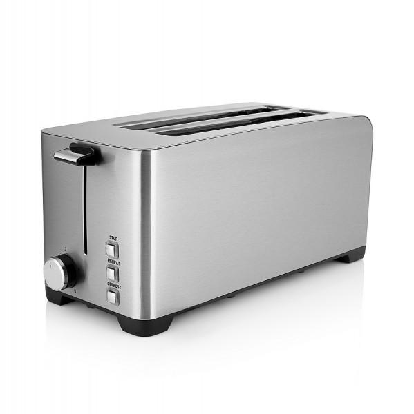 WILFA Toaster BRUNCH, 5 Bräunungsstufen, 1400 Watt, TOL-1400S, silber