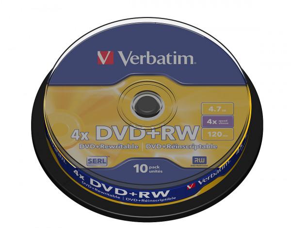 VERBATIM DVD+RW SERL 4.7GB 4x 10er Spindel