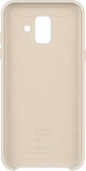 SAMSUNG MOBILE A6 Dual Layer Cover gold
