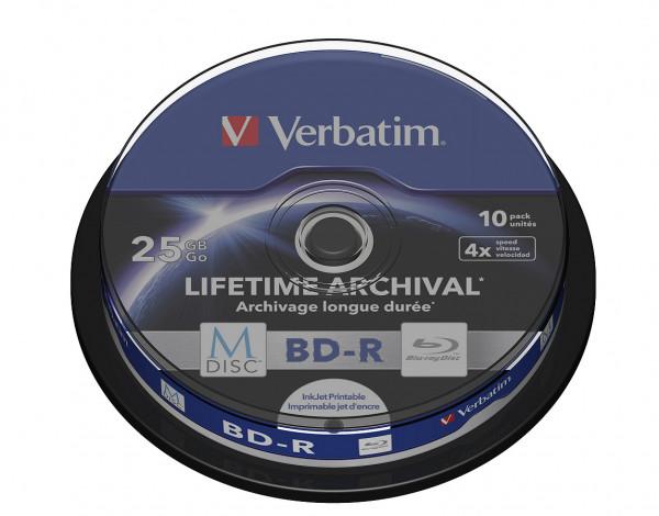 VERBATIM M-DISC Blu-Ray BD-R 25GB 4x 10er Spindel