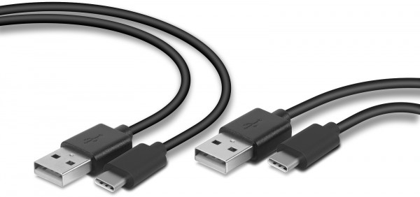 SPEEDLINK STREAM Play & Charge USB-C Cable Set for PS5, black