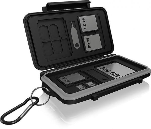 RAIDSONIC ICY BOX Schutzbox für SD (x8), microSD (x16) und CF (x4) -Karten