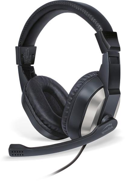 SPEEDLINK THEBE Stereo Headset / Kopfhörer / Schwarz