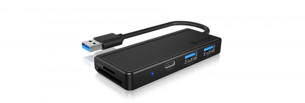 RAIDSONIC USB 3.0 Type-A Hub & Kartenleser