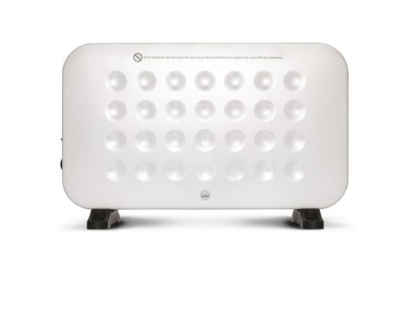 WILFA GLOW Fan Heizgerät - 2000 Watt Leistung, 3 Heizstufen, verstellbares Thermostat, leichte Positionierung, weiß